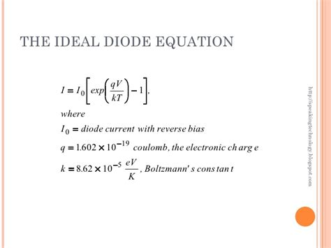 real diode equation semiconductor physics