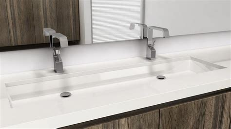 double trough sink bathroom vc848u undermount sink 48 inches cube collection