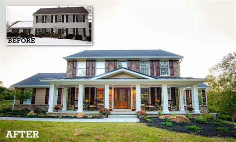 before after home exterior designs