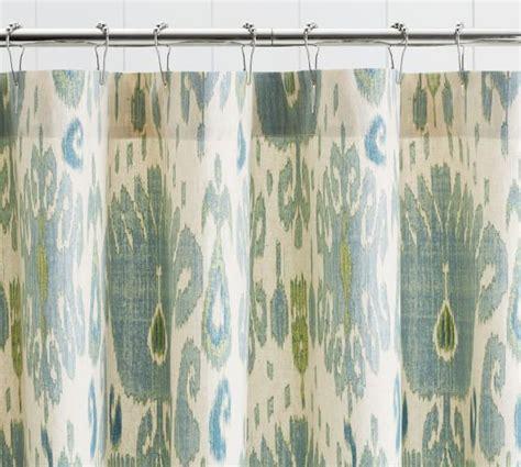 ikat shower curtains vivian ikat shower curtain pottery barn