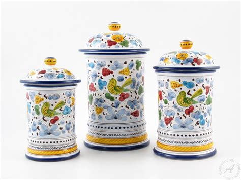 italian canisters kitchen italian kitchenware