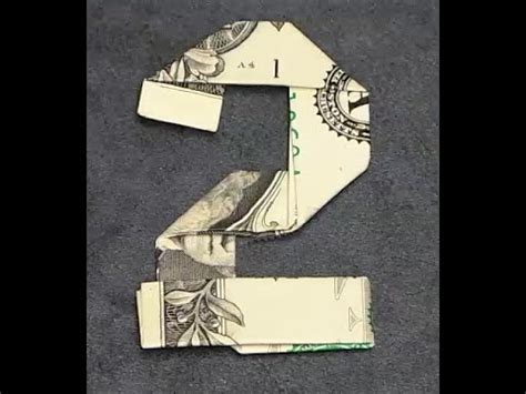 Paper Folding With Numbers - fold origami dollar bill number 2