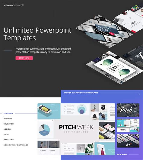 templates envato 20 best pitch deck templates for business plan powerpoint