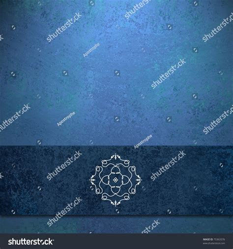elegant blue background design with fancy seal flower shapes in elegant sapphire blue background dark blue colored ribbon