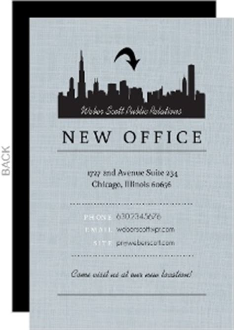 business moving announcements business moving cards by