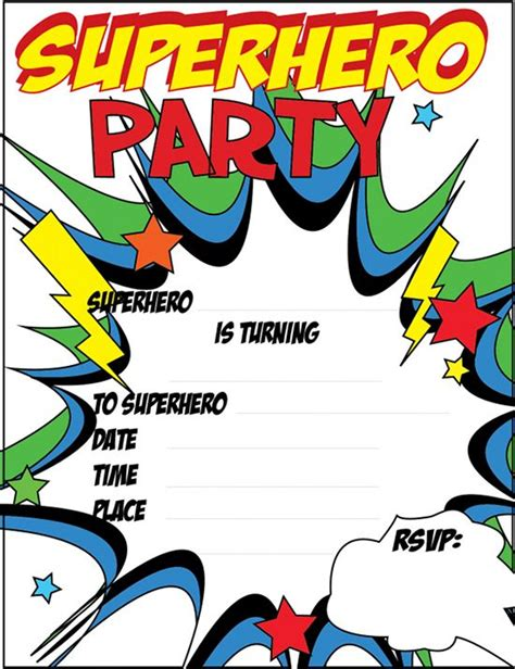 printable superhero party decorations free printable superhero party invitations just click and