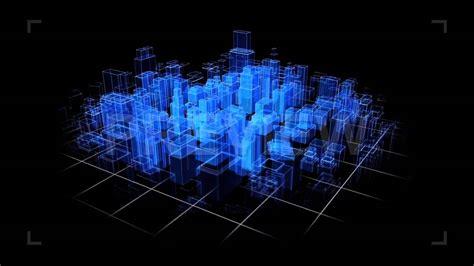 House Construction Blueprints city hologram stock motion graphics youtube