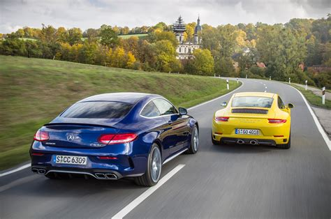 turbo two step porsche 911 s vs mercedes amg c63