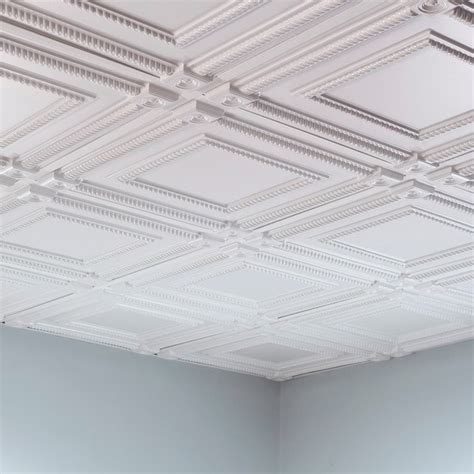 how to tile a ceiling fasade coffer gloss white 2 foot square lay in ceiling