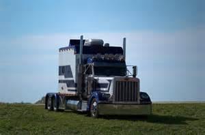 peterbilt semi truck with custom sleeper photograph by tim