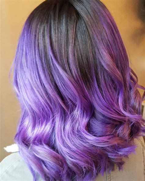 how to ombre hair dark to light dark purple to light purple ombre hair www imgkid com