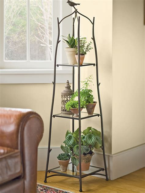 Planter Stands Indoors by A Frame Plant Stand And Tray Set Ladder Plant Stand