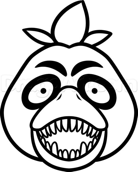 five nights at freddy s coloring book great coloring pages for and adults unofficial edition books how to draw chica the chicken easy step by step