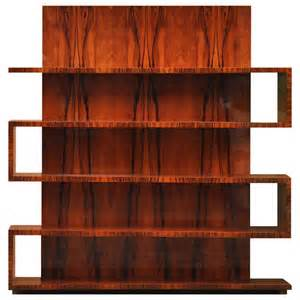 Walnut Veneer Bookcase Art Deco Bookcase With Tall Back At 1stdibs