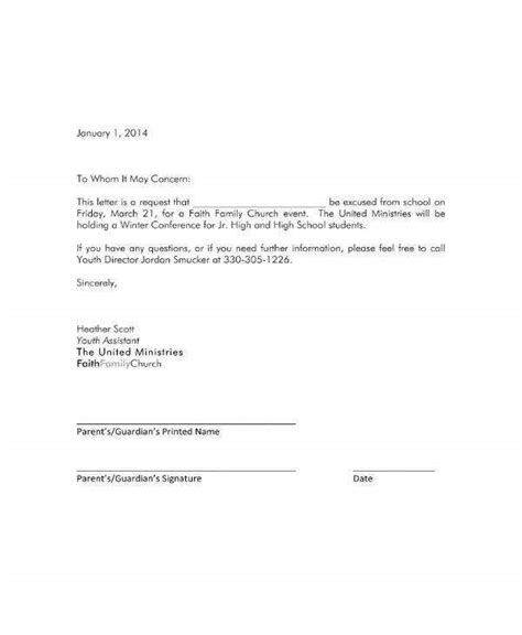 school excuse note templates premium