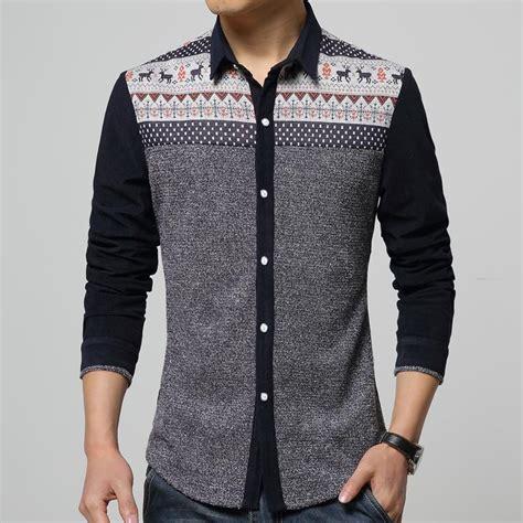 shirt pattern long sleeve own design shirts men stylish new 2015 long sleeve deer