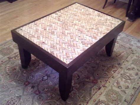 Wine Cork Coffee Table Builds Gorgeous Diy Coffee Table Using Wine Corks