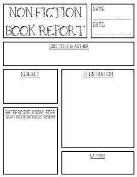 fiction book report template non fiction book report create teach texts graphic organizers and graphics
