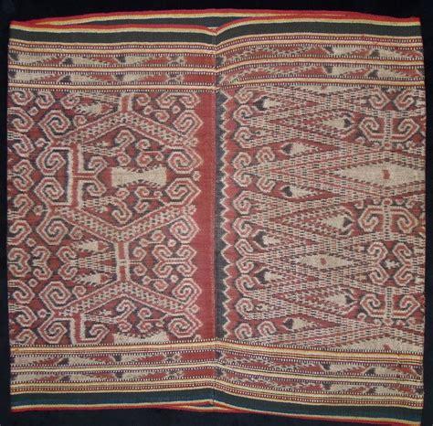 Toraja Ii Skirt kain kebat ritual skirt iban west kalimantan cotton warp ikat early 20th century