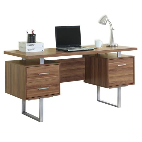Modern Desk With Storage Modern Desks Harley Walnut Desk Eurway Furniture