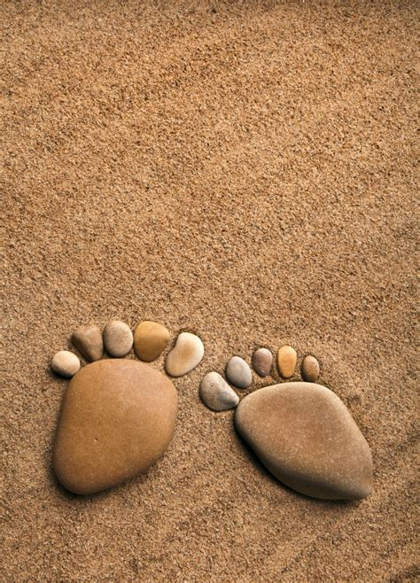footprints sand and creative pictures free download