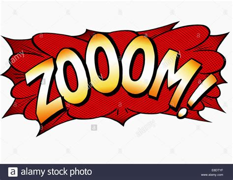 zoom sound zoom comic book text sound effect stock photo royalty