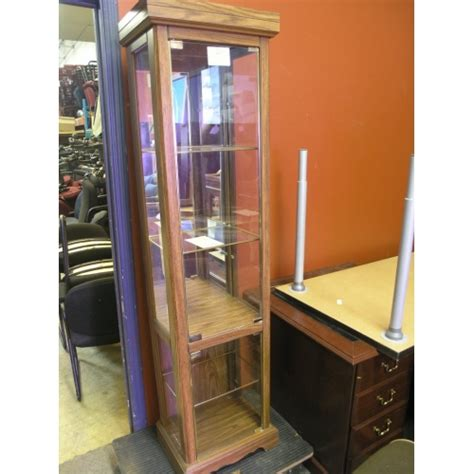 ashley furniture curio cabinet ashley glass curio cabinet with lighting 5661 ashley