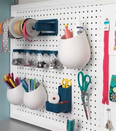 Pegboard Craft Room Diy Pegboard Organization Display In Honor Of Design