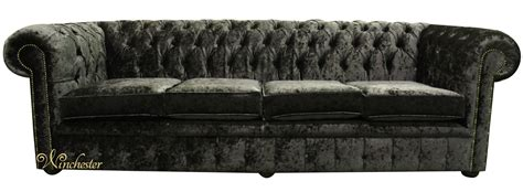 black fabric chesterfield sofa chesterfield 4 seater settee senso black ebony velvet