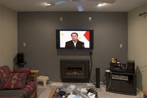 tv fireplace heat shield mounting fireplace avs forum home theater