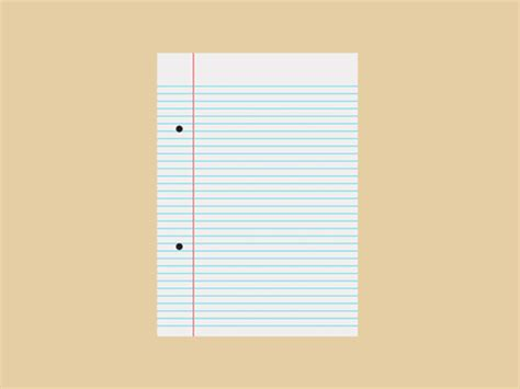 How To Make A Paper Animation - notebook paper animated gif jeff thompson