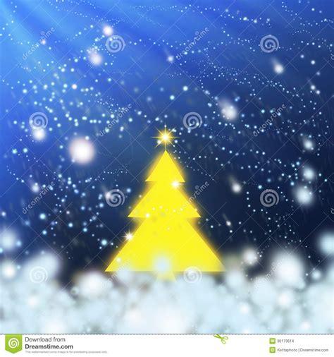 yellow christmas tree stock images image