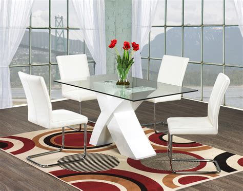 Modern Glass Dining Table And Chairs Modern Glass Dining Table Tempered House Photos