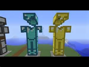 People statues armor minecraft project