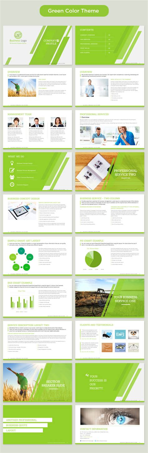 company profile powerpoint template 350 master slide
