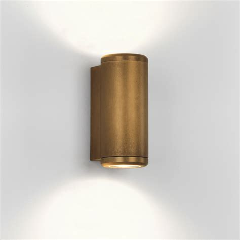 brass outdoor wall light astro lighting 7809 jura ip44 twin coastal exterior brass