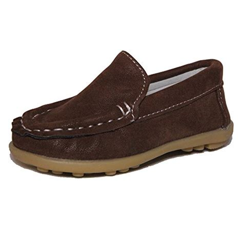 boys loafers size 4 conda boys brown suede loafers water resistent slip