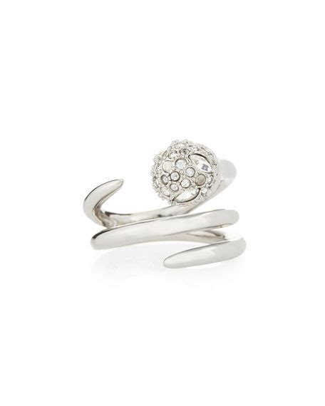 Hello Pave Ring From Neiman by Bittar Pav 233 Spiral Sphere Ring Neiman