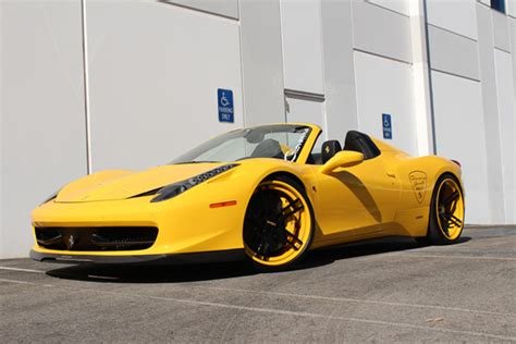 ferrari custom paint custom painted rims on ferrari 458 italia giovanna