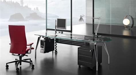modern glass office desks modern executive desk for home office with drawer