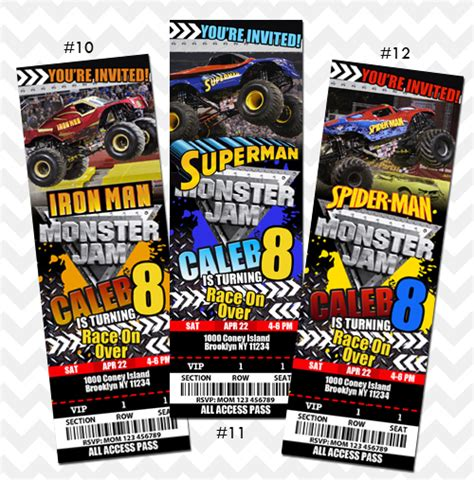 tickets to truck jam invitation on storenvy