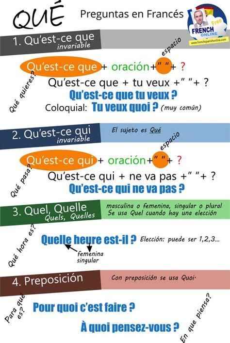 preguntas en frances con quel 269 best french lessons images on pinterest acute accent