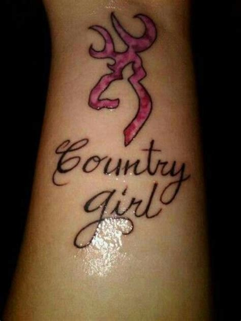 country girl tattoos designs deer horns country the ear