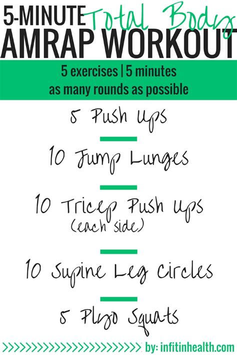 5 minute total amrap workout