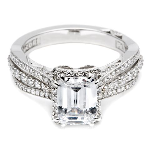 unique emerald cut engagement rings wedding promise