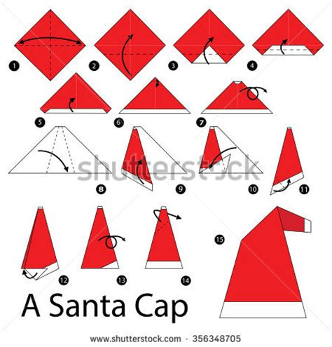 Santa Hat Origami - origami stock images royalty free images