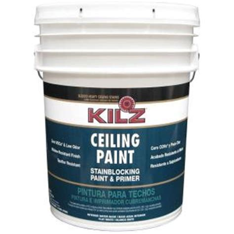 kilz white flat 5 gal interior stainblocking ceiling
