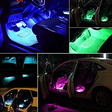 Lu Led Kolong Dashboard Multi Colour Colok Lighter Remote minger car led light 4pcs dc 12v multi color car interior light led underdash