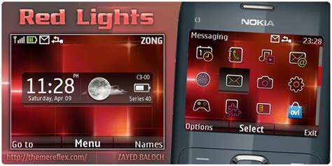nokia x2 watch themes red lights live theme for nokia c3 x2 01 themereflex