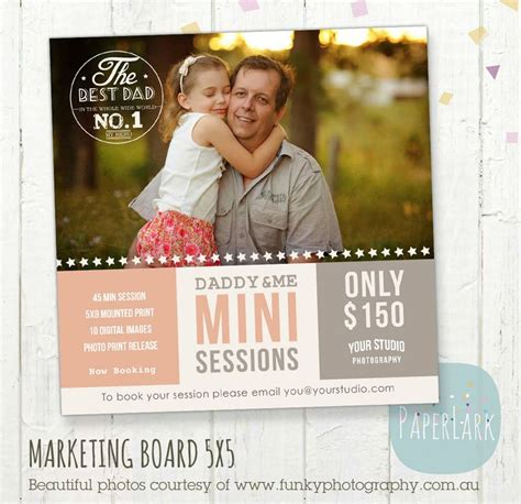 mini session templates for photoshop father s day mini session template photoshop by